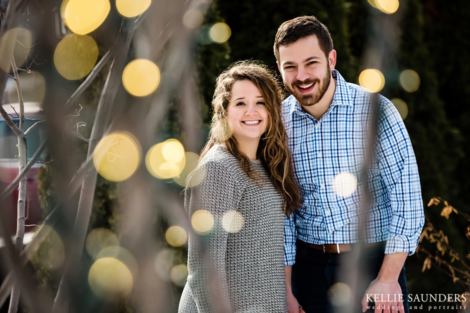 Michigan Winter Engagement Pictures, Winter Engagement Session, Shain Park Birmingham