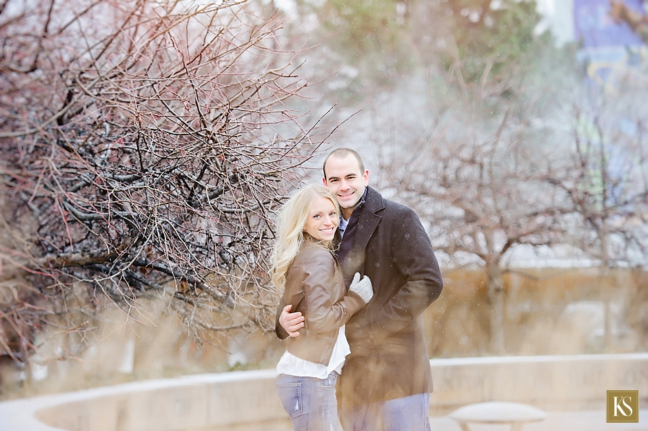 Winter Engagement Session in Detroit
